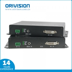 DVI KVM Extender with Fiber Optic, No Compression
