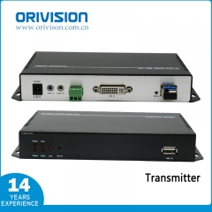 4K DVI KVM Extender with Fiber Optic